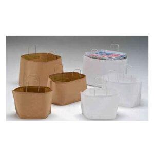 Bolsas de papel base ancha cajas de pizza