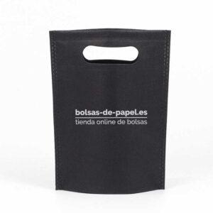 producto bolsa de tela personalizada asa troquelada negra