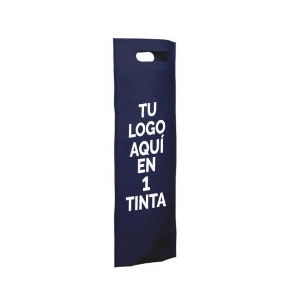 Bolsa de tela personalizadas para botellas azul oscuro