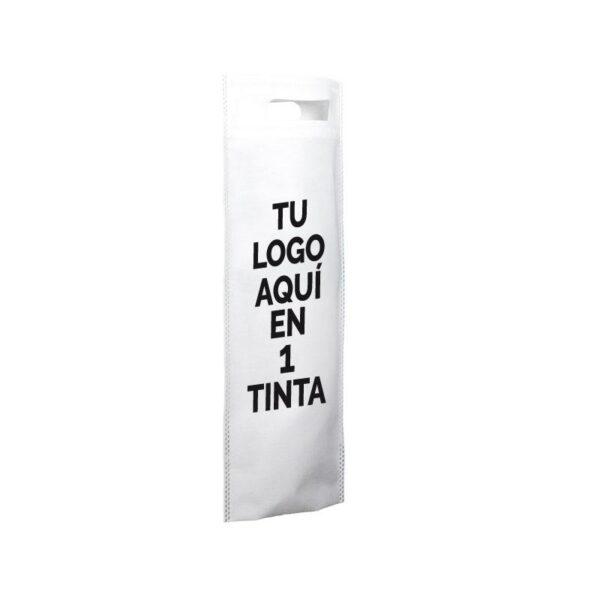 Bolsa de tela personalizadas para botellas blanco