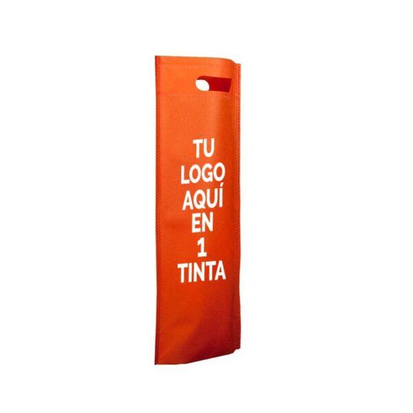 Bolsa de tela personalizadas para botellas naranja