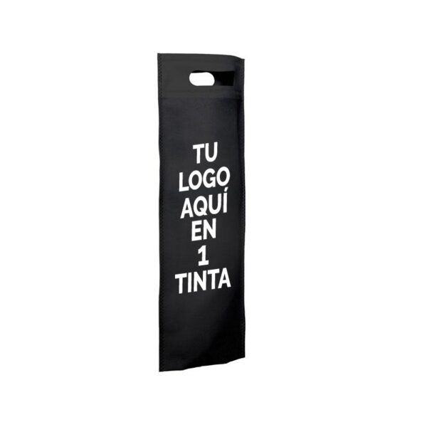 Bolsa de tela personalizadas para botellas negra