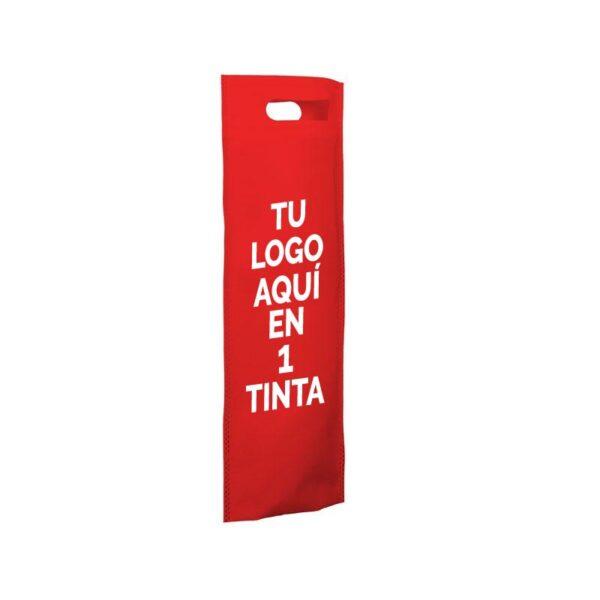 Bolsa de tela personalizadas para botellas roja