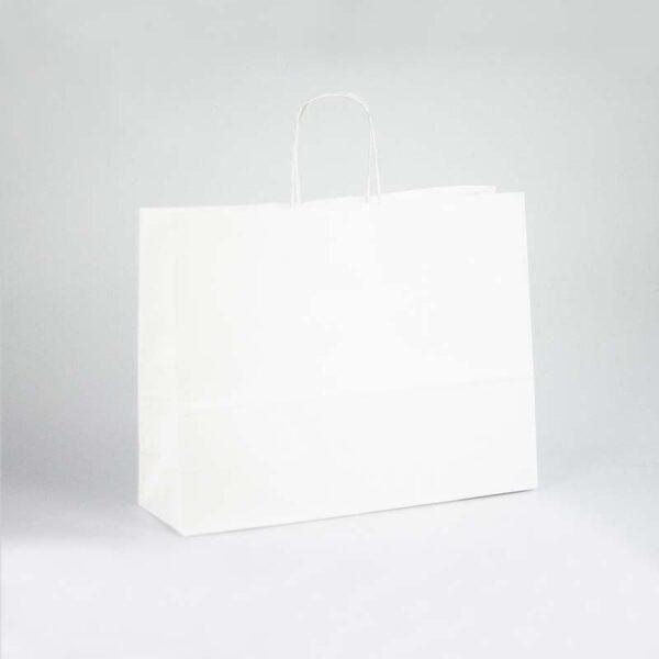 Bolsas de papel kraft asa rizada 40x12x31