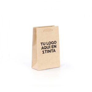 Bolsas de lujo kraft pequeñas personalizadas 1 tinta