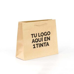 Bolsas de lujo impresas 38x13x31 personalizadas kraft marrón verjurado 1 tinta