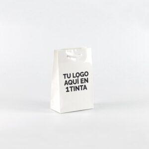 Bolsas de lujo charol personalizadas 16x8x25 blanca