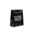 bolsas de lujo plastificadas personalizadas 22x10x27 negra