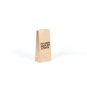 Bolsas de papel pequeñas personalizadas sin asas 10x6x21 kraft marrón verjurado