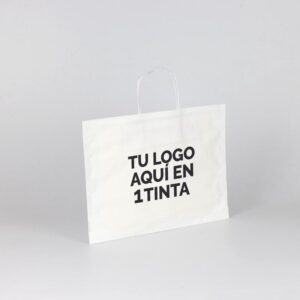Bolsas de papel bbags personalizadas 36+10x27 blanca