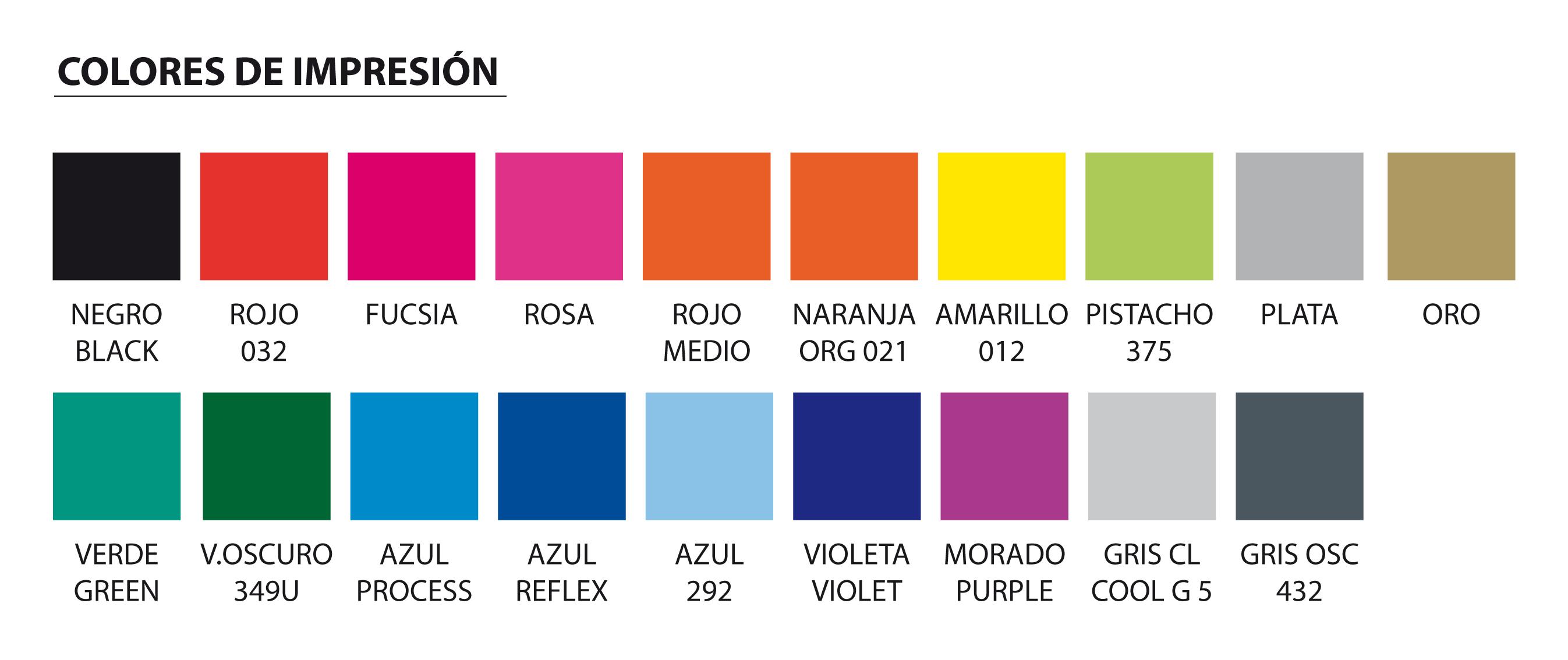 colores de impresión estándar