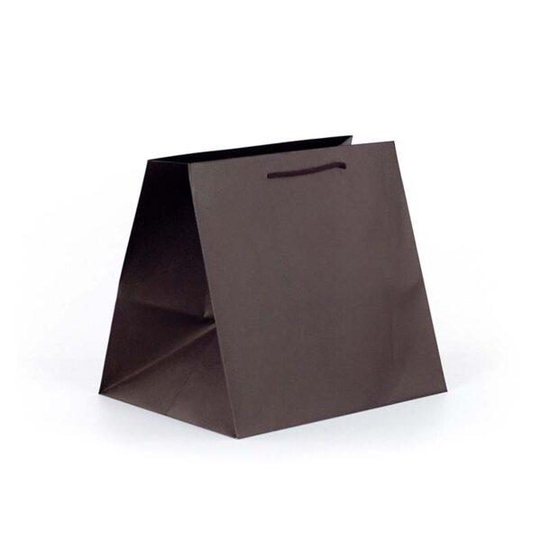 Bolsa de lujo gourmet base ancha 32x28x33 chocolate