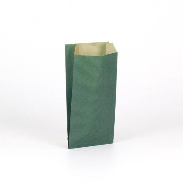 Sobres de papel kraft para regalo 11x21+5 verde