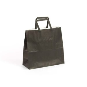 Bolsas de papel asas plana 24x10x23 negro