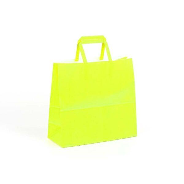 Bolsas de papel asas plana 24x10x23 pistacho