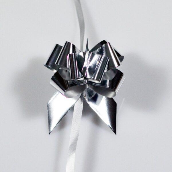 Lazos automáticos metalizados pequeños 15 mm