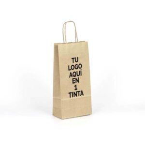 Bolsas de papel pequeñas personalizadas para botellas 15x8x31