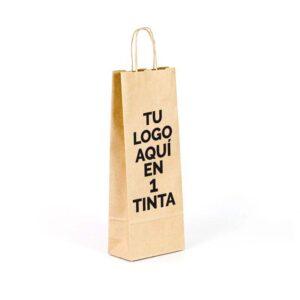 Bolsas de papel kraft personalizadas para botellas 15x8x39.5 marrón