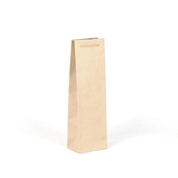 Bolsas de lujo para botellas kraft marrón verjurado