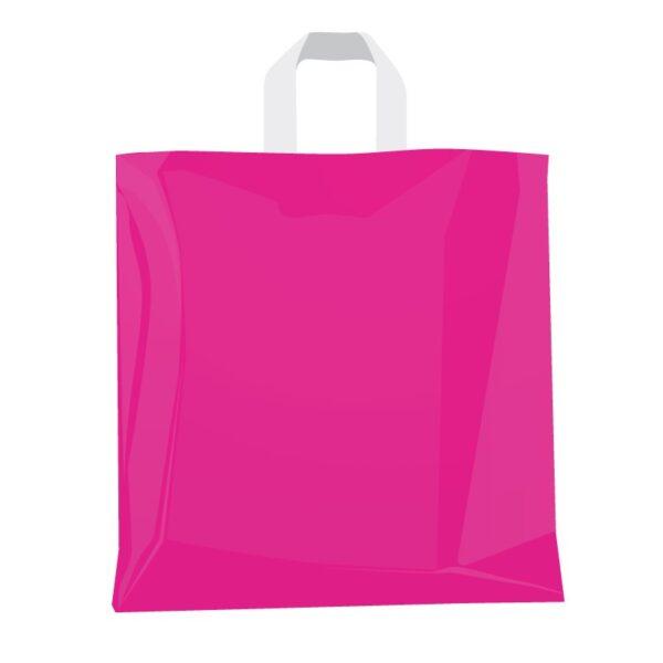 Bolsas de plástico 32x32+5 Asa lazo