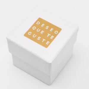 etiqueta adhesiva deseo que te guste oro plata ET1114