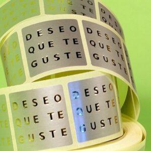 Etiquetas adhesivas fondo plata felicitacion deseo que te guste