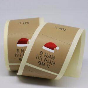 Etiquetas adhesivas cierra bolsas gorro papa noel