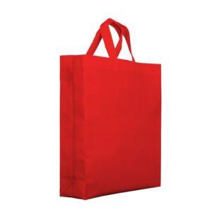 Bolsa de tela fondo cuadrado 38x10x40 rojo asa cinta