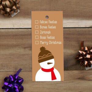 Etiquetas para colgar avana muñeco de nieve