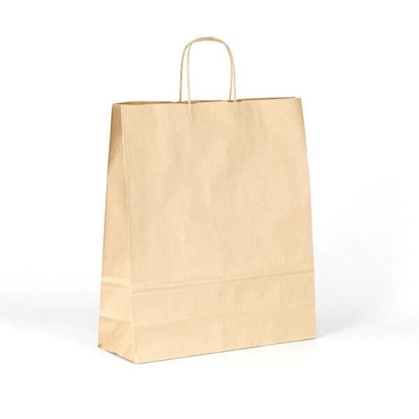 Bolsas de papel kraft con asas 36x12x41 marrón verjurado