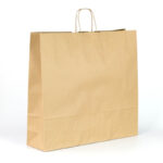 Bolsas de papel grandes 54x14x50 kraft marrón liso avana