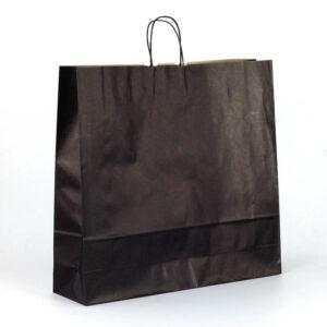 Bolsas de papel grandes asa rizada 54x14x50 negras