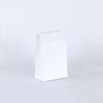 bolsa de lujo kraft 16x8x25 blanca