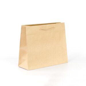 Bolsas de lujo para tiendas 38x13x31 kraft marrón verjurado