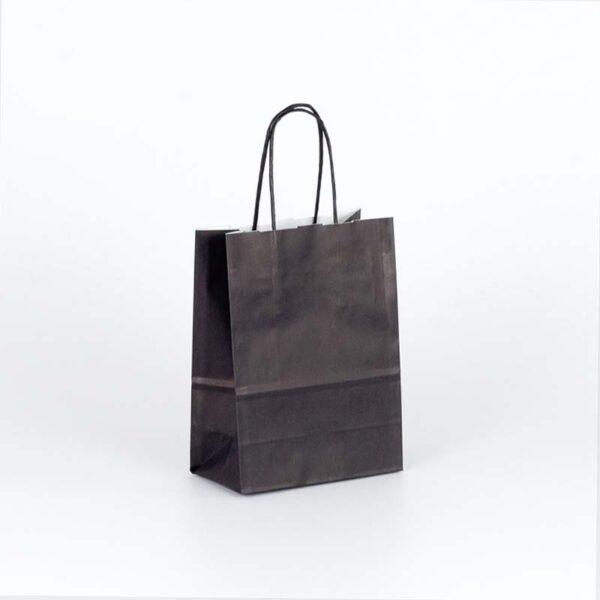bolsa de papel asa rizada pequeña 15x8x20 negra