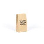 bolsas de papel kraft sin asas personalizadas 14x8x24 marrón verjurado