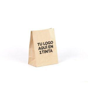 Bolsas de papel fondo americano personalizadas 18x11x24 marrón verjurado