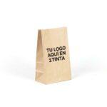 Bolsas de papel americanas personalizadas 18x11x30 marrón verjurado