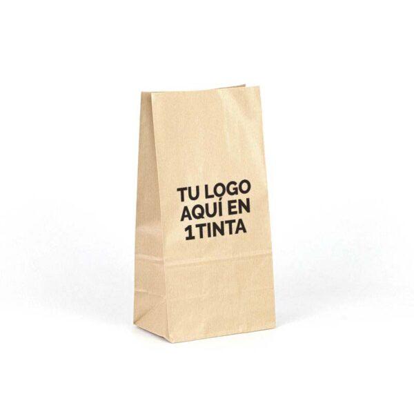 Bolsas de papel kraft americanas personalizadas 18x11x35 marrón verjurado