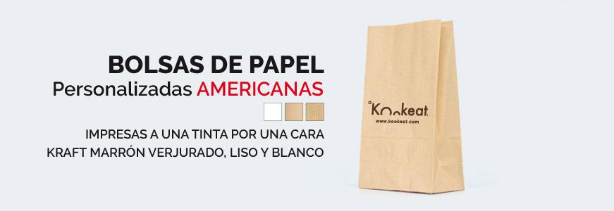 banner bolsas de papel kraft personalizadas americanas sin asas