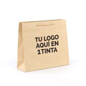 bolsas de lujo personalizadas kraft asa cordón 42x13x37 kraft marrón verjurado