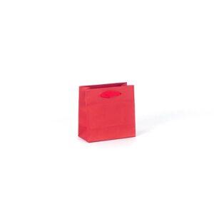 Bolsas de lujo pequeñas asa cinta 14x7x14 roja