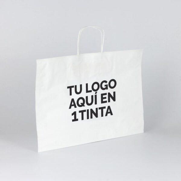 Bolsas de papel bbags personalizadas 40+15x31 blanca