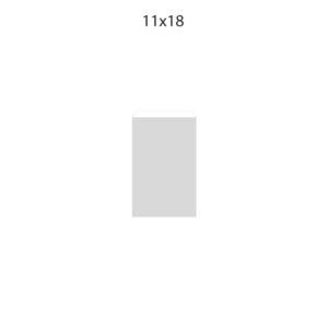 Dibujo bolsa sobre para regalo medida 11x18