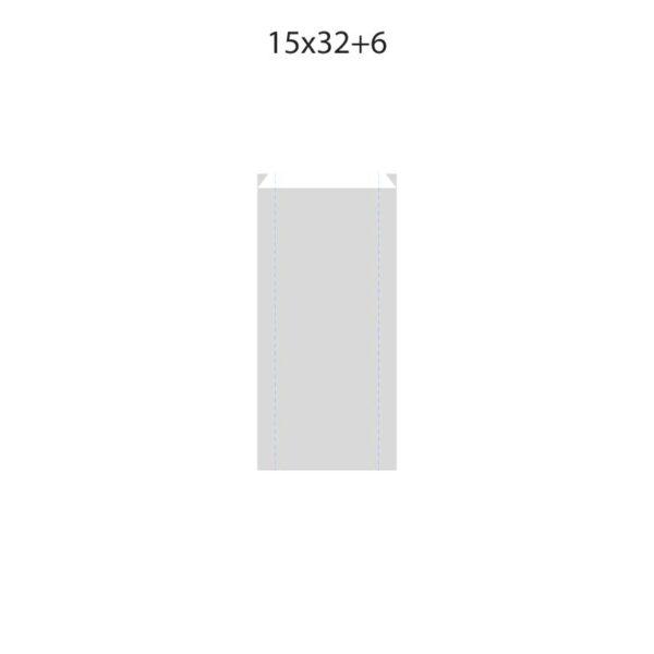 Dibujo bolsa sobre para regalo medida 15x32+6