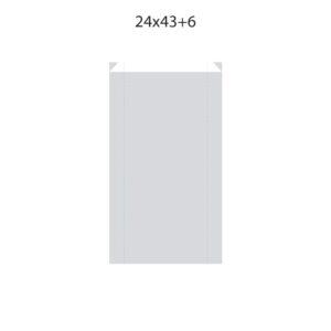 Dibujo bolsa sobre para regalo medida 24x43+6
