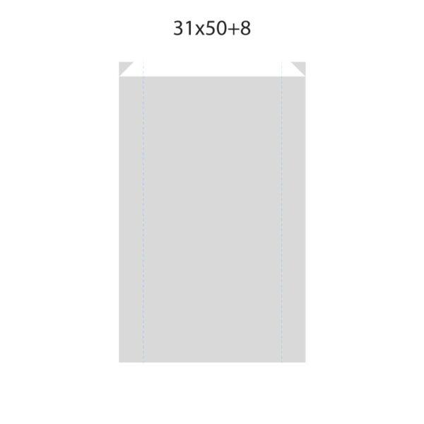 Dibujo bolsa sobre para regalo medida 31x50+8