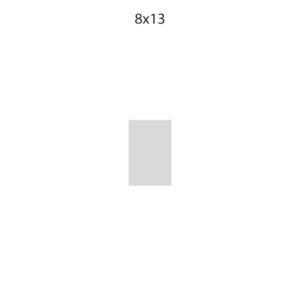 Dibujo bolsa sobre para regalo medida 8x13