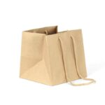 bolsas de papel para macetas 22x22x22 asa larga kraft marrón reciclado