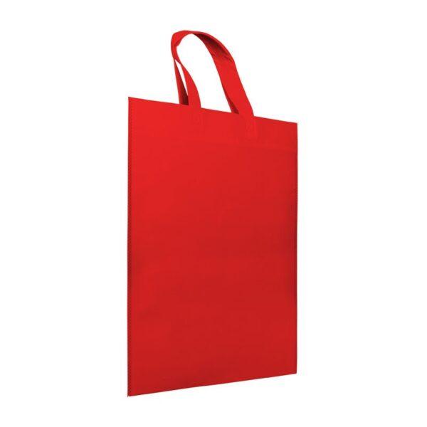 Bolsa de tela asa corta azul roja